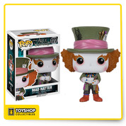 We're all mad here! This Alice in Wonderland Mad Hatter Pop! Vinyl Figure features the kooky friend of Alice, big hat and all! Standing about 3 3/4-inches tall, this figure is packaged in a window display box.