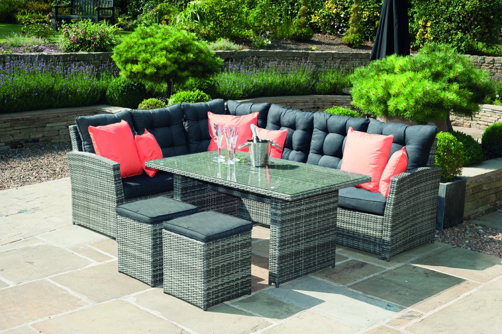 Cayman Relaxed Corner Dining Set from Pacific Lifestyle