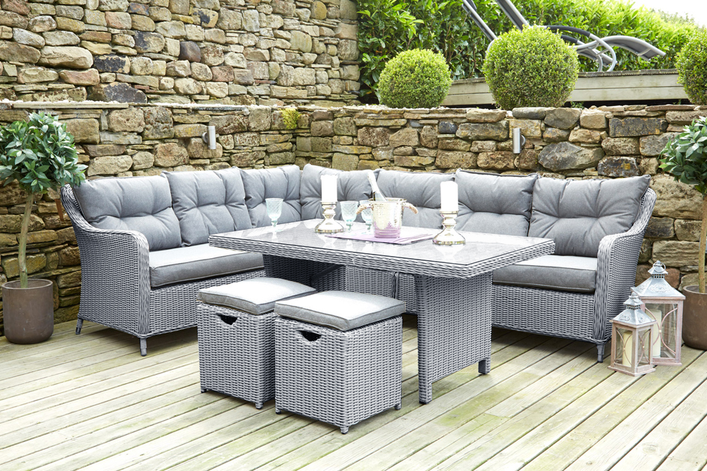 image corner dining set. Antigua Corner Set With Relaxed Dining Dimensions: Image