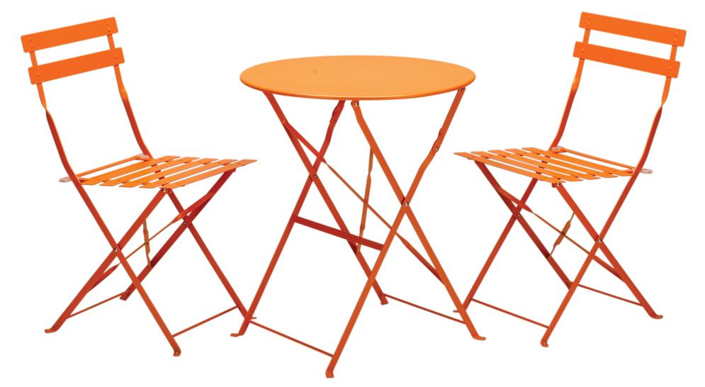 Excellent Padstow Folding Steel Bistro Set Burnt Orange Download Free Architecture Designs Momecebritishbridgeorg