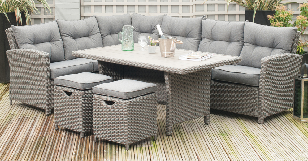 Barbados Relaxed Corner Dining Set