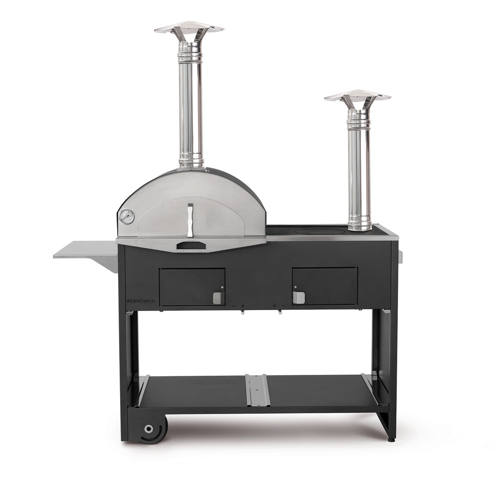 Fontana Forni Hybrid Outdoor BBQ Pizza Oven From Qubox