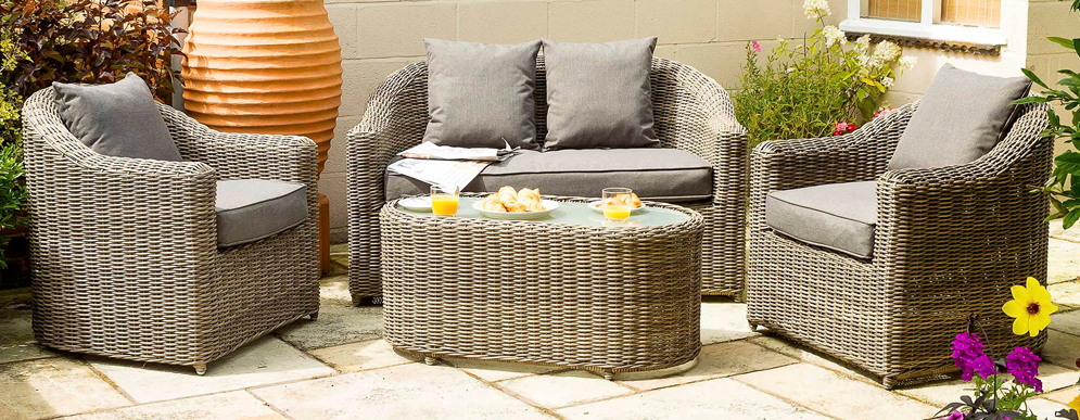 Bunbury Rattan Sofa Set by Rowlinson