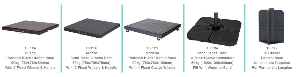 Choose Your Platinum Parasol Base