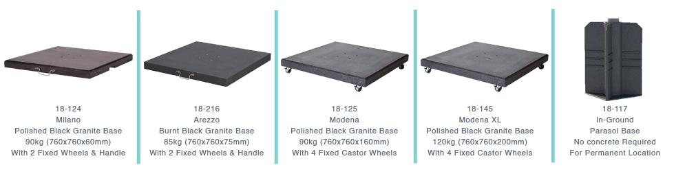 Choose Your Cantilever Parasol Base