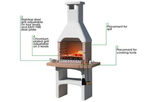 Sunday Desert Masonry BBQ Specifications From Qubox