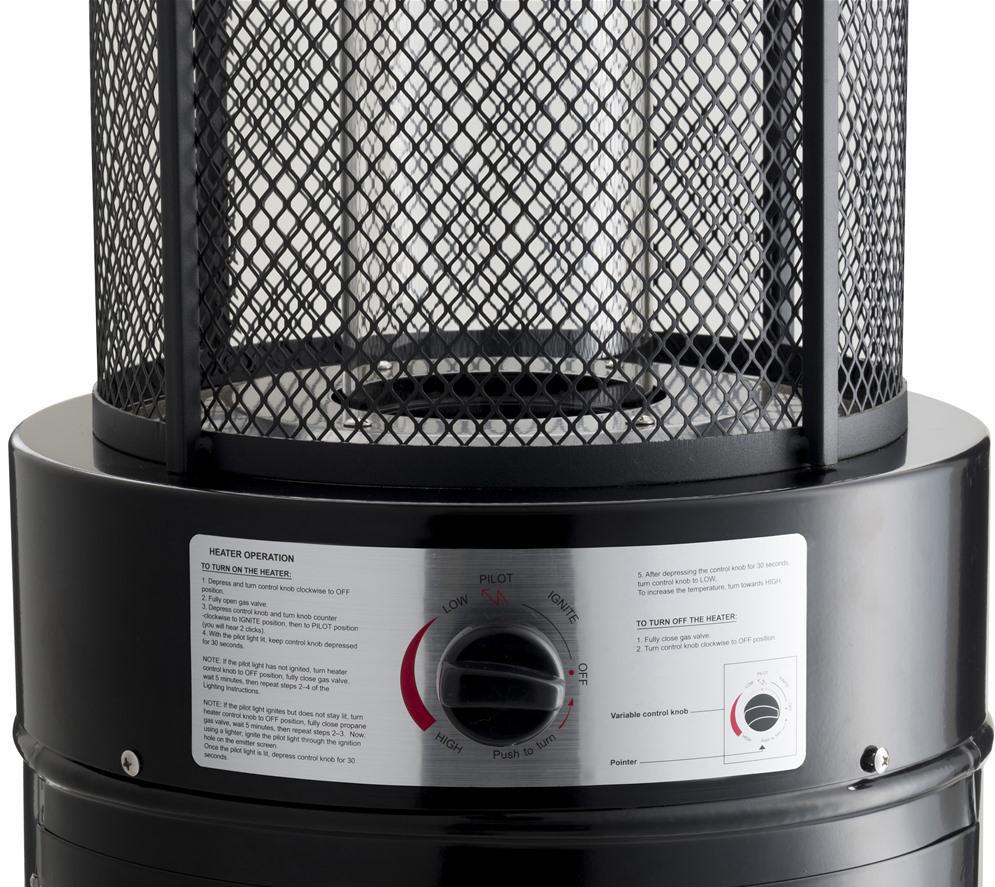 Lifestyle Emporio Black Gas Heater