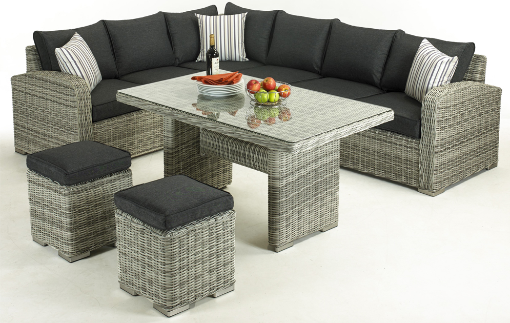 Glendale Broadwater 5PC Corner Set Two Tone Grey