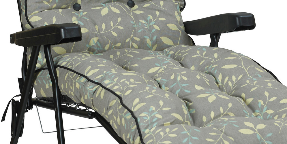 Deluxe Garden Lounger Chair Country Teal