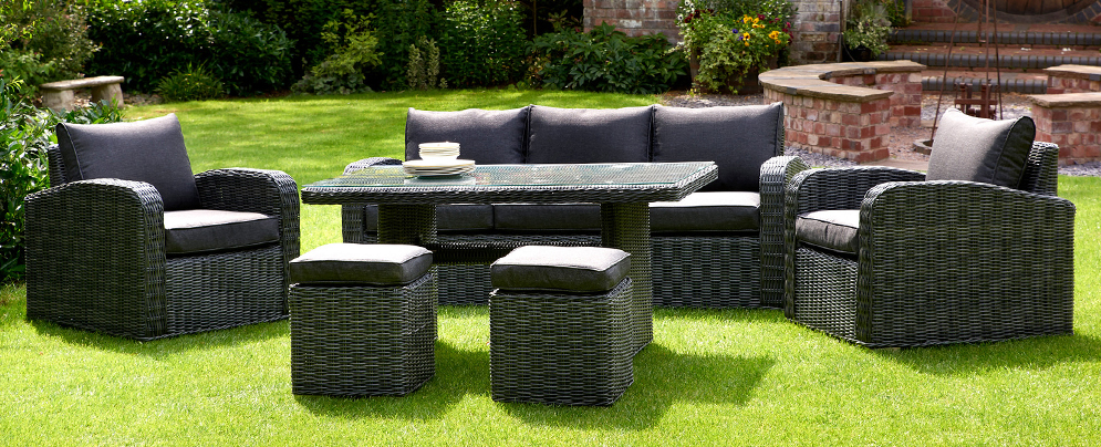 Chadbury 6PC Sofa Dining Set in Charcoal from Glendale