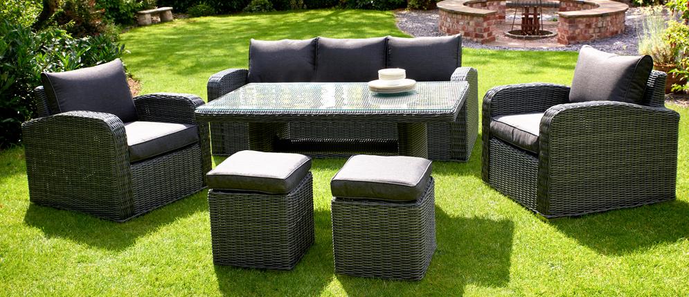 Glendale Chadbury 6PC Rattan Sofa Set Charcoal