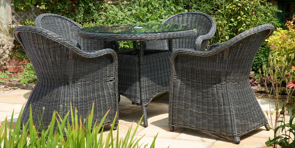 Glendale Cleobury 5PC Rattan Dining Set Charcoal