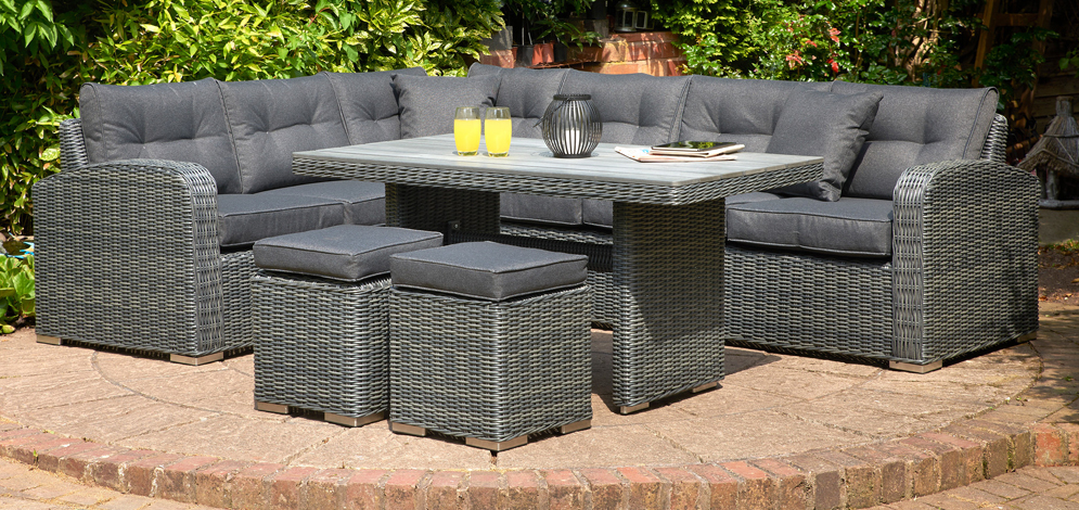 Glendale Broadwater 5PC Rattan Corner Set Charcoal