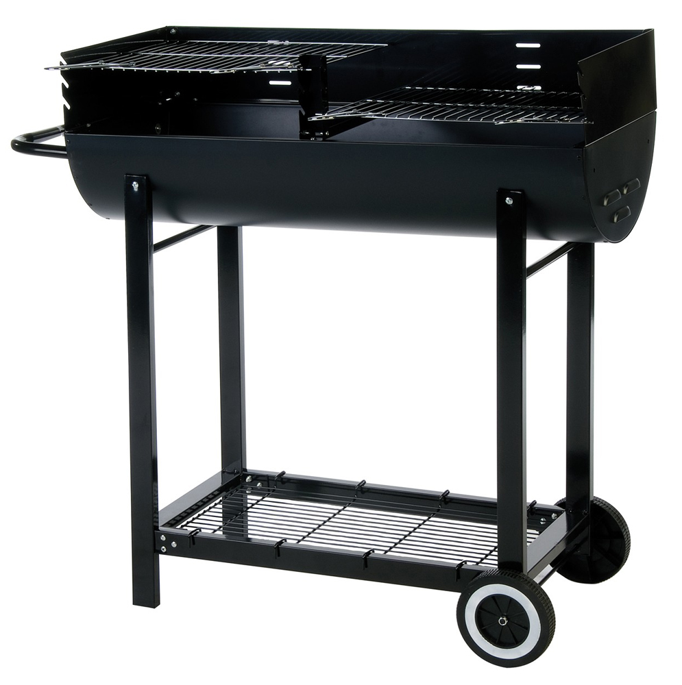 Lifestyle Half Barrel Charcoal BBQ