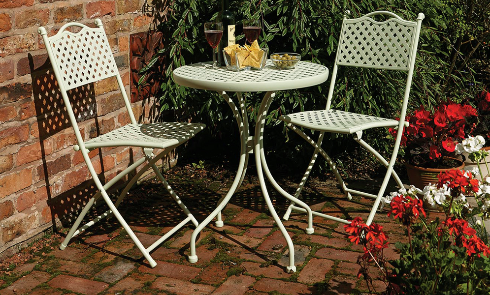 Havana Lattice Bistro Set By Rowlinson