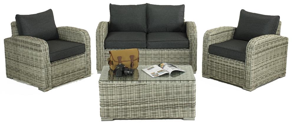Glendale Henbrook 4 Piece Sofa Set Grey