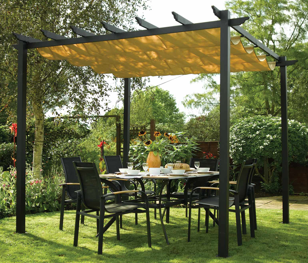 Rowlinson Latina Retractable Gazebo 3x3M