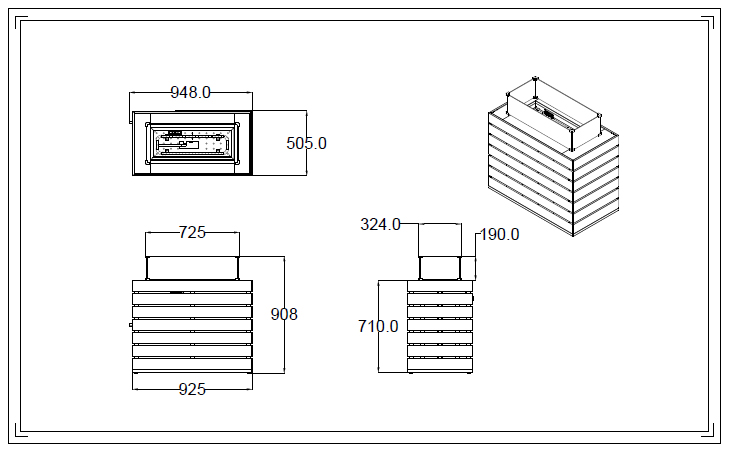 Muztag Q10 Outdoor Gas Fire Table Specifications