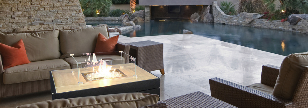 Outdoor Gas Fire Pit Tables from Qubox