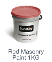 Sunday Red Masonry Paint 1KG