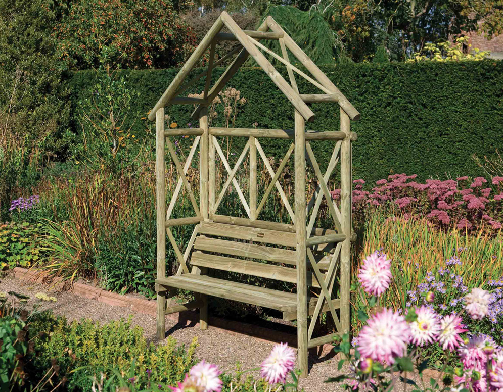 Rustic Seat from Rowlinson