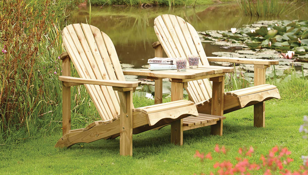 Softwood Adirondack Companion Seat from Rowlinson