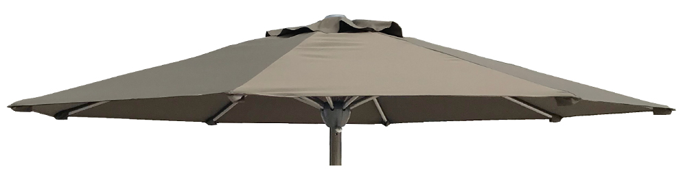 Stainless Steel Parasol 2.5m Taupe