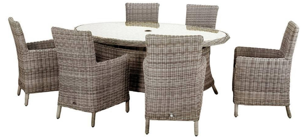 Wentworth 6 Seater Ellipse Carver Dining Set