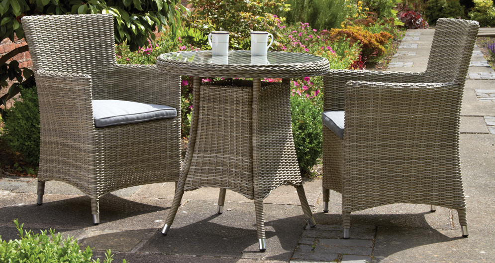 Wentworth 2 Seater Round Carver Bistro Set