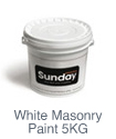 Sunday White Masonry Paint 5kg