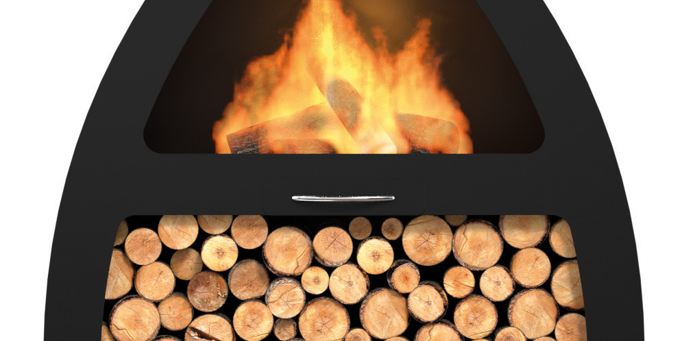 Wine Black Steel Chiminea