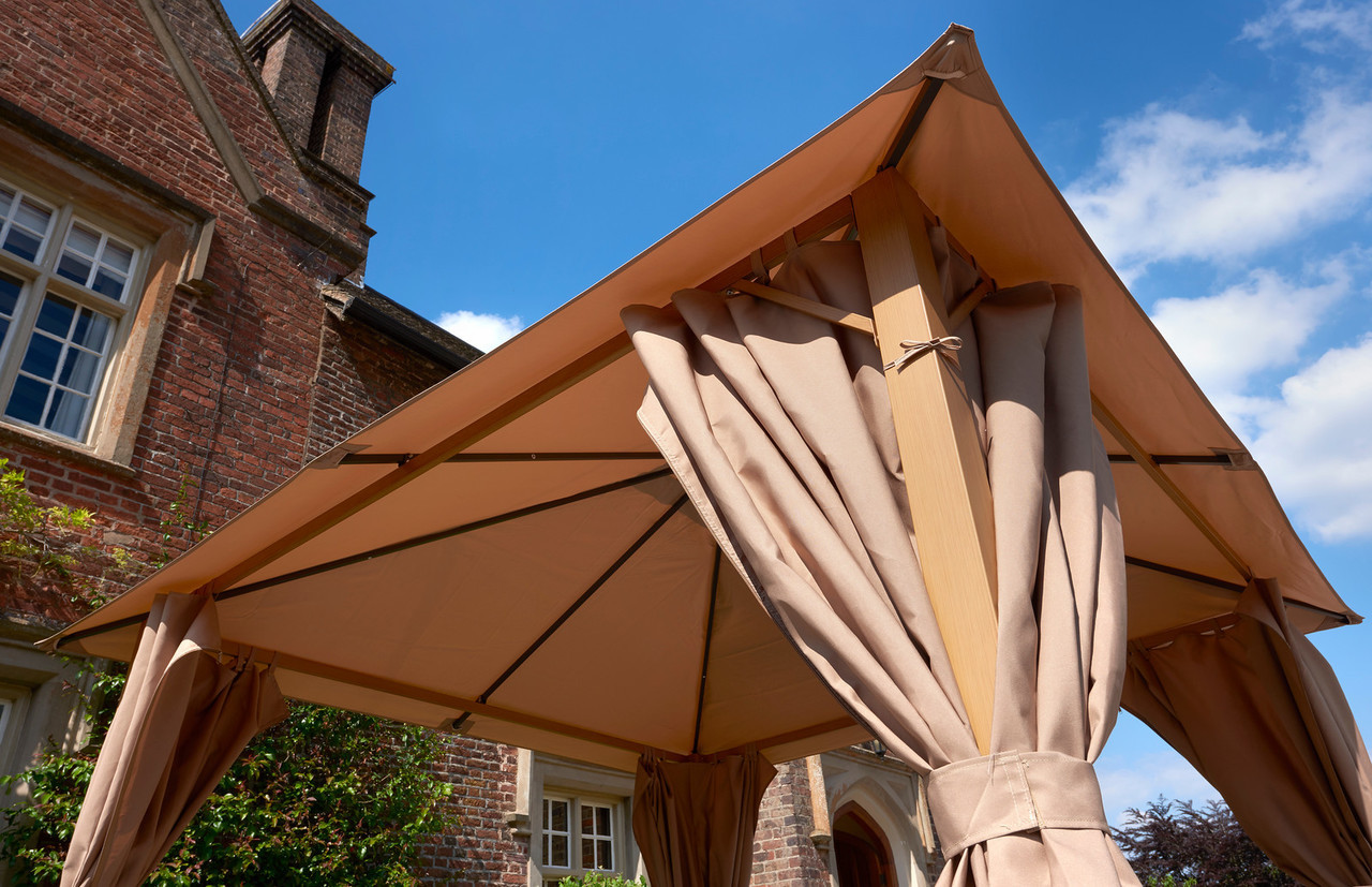 Glendale Wood Effect Gazebo Beige
