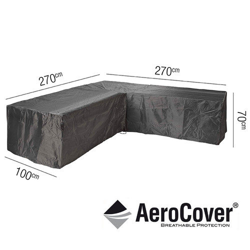 Aerocover Protective Cover for Garden L-Shape Set 270 x 100 x 70cm (18-C-7942)