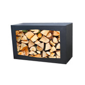 GardenMaxx Woodbox Black Steel Log Store (390050)