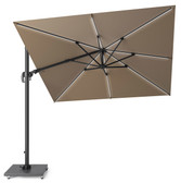 Glow Challenger LED Cantilever Parasol 3x3m Taupe (18-111-TA)
