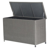 Small Rattan Cushion Storage Box Slate Grey (18-137-SG)