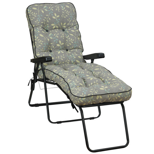 Glendale Deluxe Garden Lounger Chair Country Teal (GL1324)