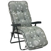 Deluxe Garden Relaxer Chair Renaissance Grey from Glendale