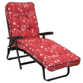 Deluxe Garden Sun Bed Lounger Renaissance Rouge (GL1533) from Glendale