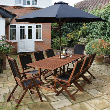 Bali Hardwood 8 Seater Extending Dining Set (BALISET)