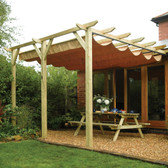 Sienna Retractable Wall Mounted Pergola 390 x 333cm