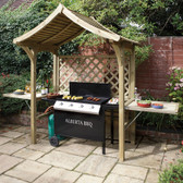 Party Garden Arbour as BBQ Shelter - From Rowlinson