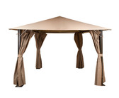 Venice Heavy Duty 2.5x2.5M Metal Gazebo Beige