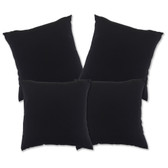 "Glendale Scatter Cushion 18"" x 18"" Black Set 4 (GL1354)"