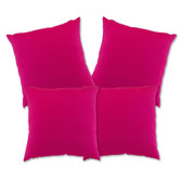 "Glendale Scatter Cushion 18"" x 18"" Hot Pink Set 4 (GL1356)"