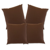 "Glendale Scatter Cushion 18"" x 18"" Chocolate Set 4 (GL1358)"