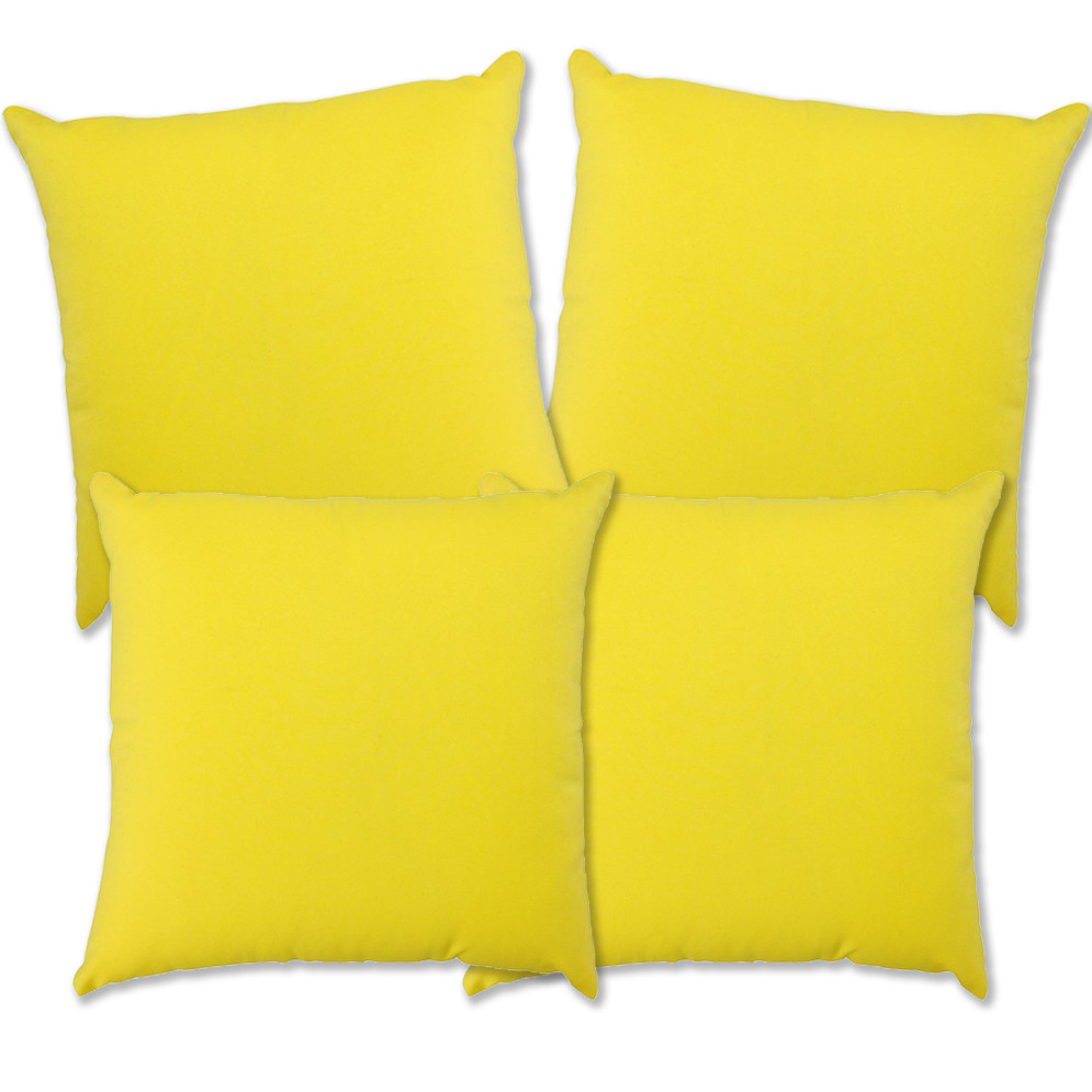 Glendale Scatter Cushion 18 X 18 Yellow Set 4