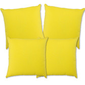 "Glendale Scatter Cushion 18"" x 18"" Yellow Set 4 (GL1381)"