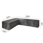 Aerocover for Rattan L-Shape Sofa Set 255x330x100x70cm (18-C-7946)