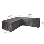 Aerocover for Rattan L-Shape Garden Set 220x90x70cm (18-C-7944)